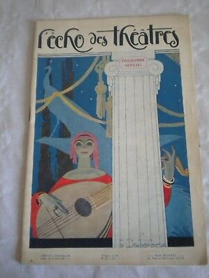 Pre-1940 Hot Sale Vintage Programme Echo Des Theatres 1926-27 Art Deco Cover Henri Desbarbieux To Invigorate Health Effectively