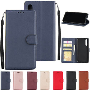 f393e08205a641 Luxury Leather Wallet Card Slim Case Magnetic Flip Cover For Huawei ...