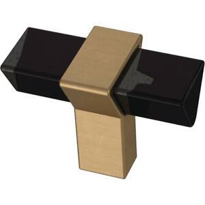 "Liberty P40186C-383 1 9//16/"" Modern Prism Cabinet Knob Smoke /& Champagne Bronze"