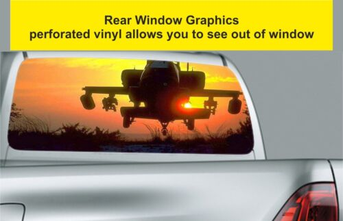 Window Graphic Tint Truck Jeep SUV Army Helicopter Sticker 133