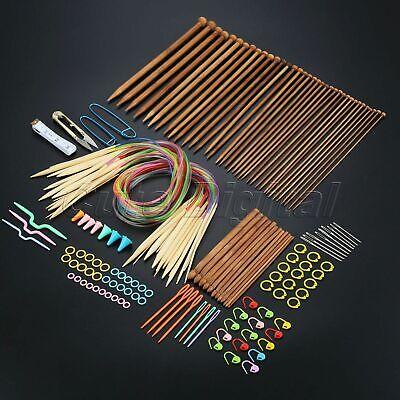 Durable 12x Crochet Hooks /& 18x Circular Knitting Needles Multiple Size DIY Tool