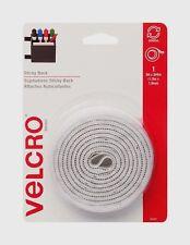 VELCRO 90087 Sticky-back Hook and Loop Fastener Tape With Dispenser 3/4 X 5 Ft. Roll White VEK90087