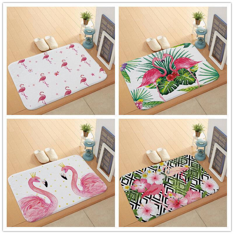 Flamingo Printed Door Mat Floor Carpet for  Hallway Bathroom Entrance Door Mats