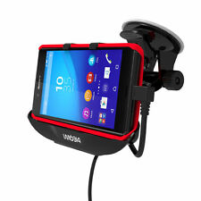 IMOBI4 Mount Cradle Holder Stand With Car Charger Cable For Sony Xperia Z4/Z3+