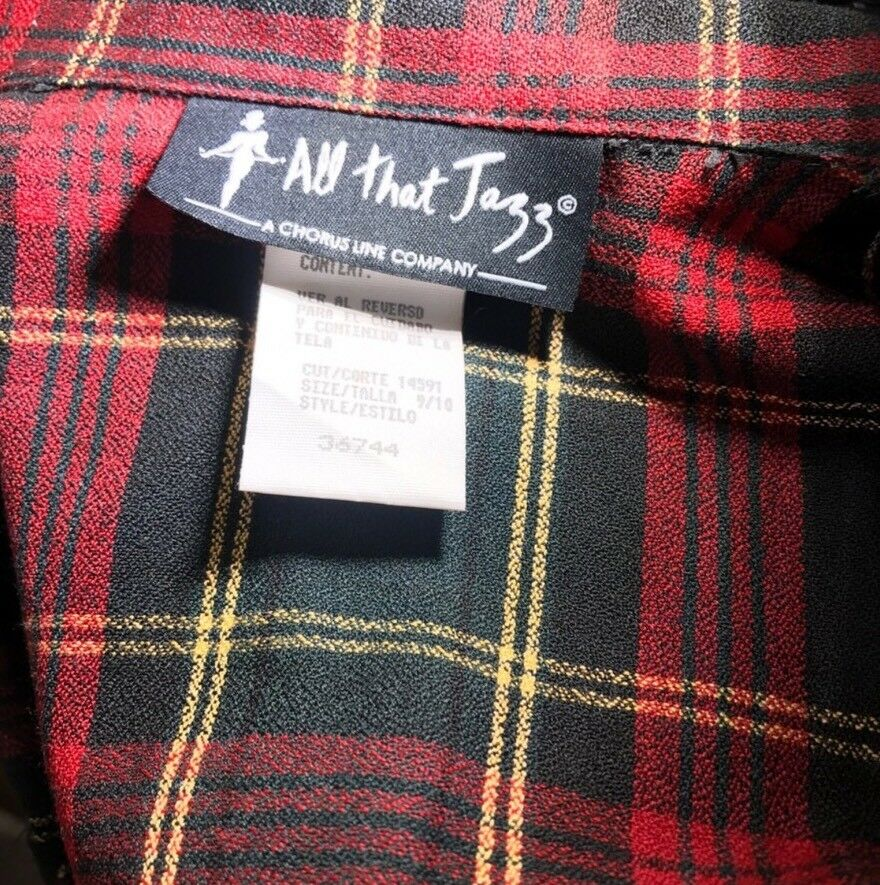 All All All That Jazz Women's School Girl Plaid Skirt Set Suit Russian Costume Size 9 10 e6c22b