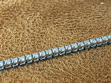 "14K White Gold Diamond Tennis Bracelet with 1.65CT.VS2 Clarity and F Color 7""."