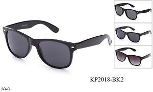 Kids-Sunglasses-Retro-Black-Frame-Boys-Girls-UV-100-Lead-Free-FDA-Approved