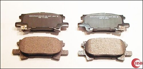 HD1005 /& HD996 HSB Front and Rear Ceramic Brake Pads