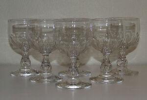 Legras-Saint-Denis-Service-de-6-verres-a-vin-cuit-en-cristal-taille