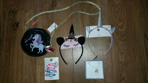 Bundle of per bambina Next Unicorno Jewellery /& accessori per capelli