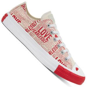 Converse Chuck Taylor All Star Chuck OX Sneaker Love Fearlessly Chaussures cœur
