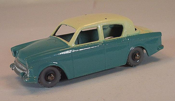 Matchbox Regular Wheels Nr. 43 A Hillman Minx turquoise GPW Lesney