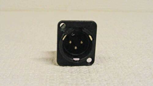 Neutrik NC3MD-H-Bag XLR 3 Pin Male D PCBH Black Connectors 5 Pack