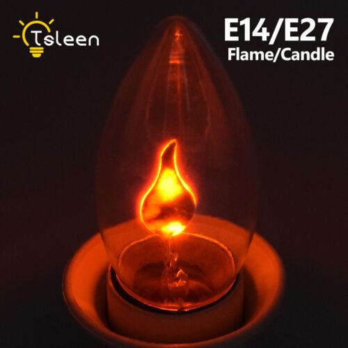 Dynamisch Feuer Flammeneffekt Urlaub Party Licht LED Birne 3W Kerzen Lampen 59B