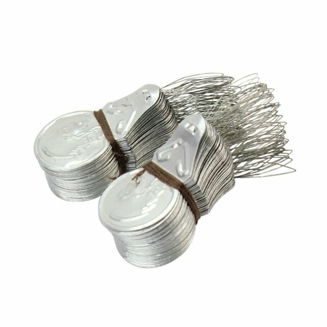 100PC Silver Bow Wire Needle Threader Stitch Hands Machine Sewing Tool US SELLER