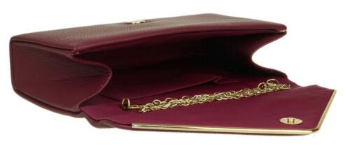 Plain Faux Leather Clutch Bag Metallic Frame Simple Evening Night Out Handbag