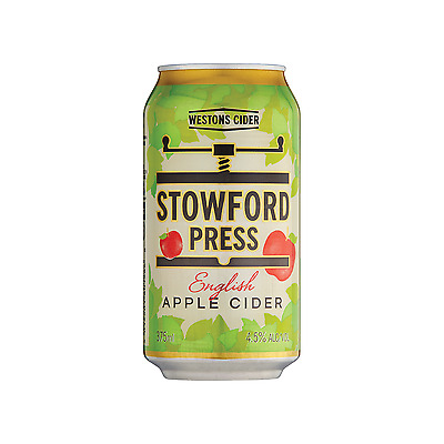 Westons Stowford Press Apple Cider Cans 375mL case of 24
