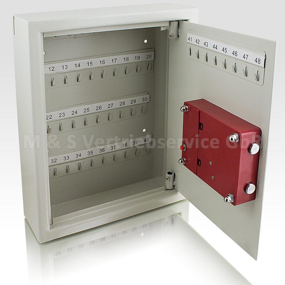 Safe Tresor elektronisch Schlüsselsafe Schlüsselkasten Schlüsselboard Lichtgrau