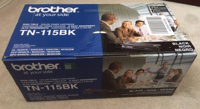 Genuine New Brother TN-115BK High YieldBlack Toner Cartridge (in sealed bag)