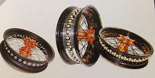 ***FA-BA*** COPPIA RUOTE BARTUBELESS MOTARD  KTM SX SXF EXC   wheel