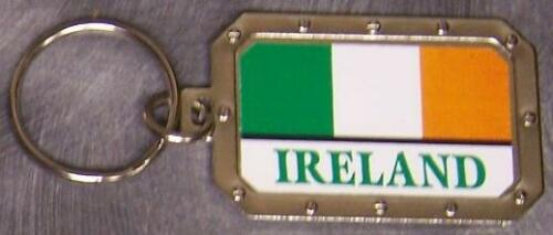 Nickel metal key ring National Flag Ireland NEW