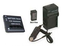 Battery +charger For Panasonic Dmcfh5p Dmcfh5s Dmcfh5v Dmc-fs14 Dmc-fp7 Dmc-fp7a
