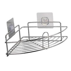 Self-Adhesive-Corner-Shelf-Caddy-Rack-Tidy-Organiser-Bathroom-Storage-Basket