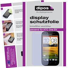 1x HTC One SV Protector de Pantalla protectores transparente