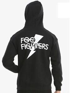 Foo Fighters Hoodie FF Logo Pullover Men/'s Grey