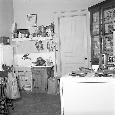 Vtg Black White 1950 S Tiny Kitchen Decor Interior Design Photo