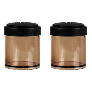 2pc Plastic Jars Food Storage Box Container Stackable Travel Camping