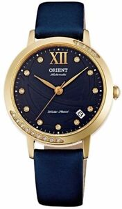 NWT ORIENT Fashionable Automatic Sapphire Crystal Gold Black Blue Watch ER2H004D