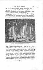 Glacière Naturelle de Vergy Haute-Savoie France GRAVURE ANTIQUE PRINT 1874