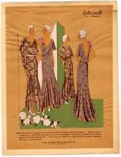 Art Déco-Mode-Mannequin-Model Lithographie 1930 SELTEN