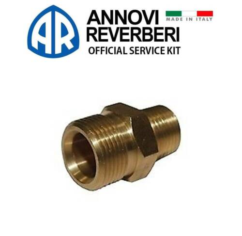 Annovi Reverberi AR2840400 Fitting Outlet Brass 3//8 x M22 RM Made in Italy