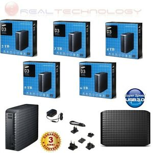 HARD-DISK-ESTERNO-3-5-2TB-3TB-4TB-5TB-6TB-SAMSUNG-MAXTOR-USB-3-0-HD-D3-STATION