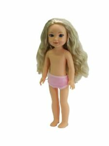 """NEW~ 14.5/"""" vinyl articulated brunette doll little sister to 18/"""" American Fashion"""