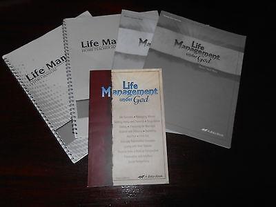 LIFE MANAGEMENT UNDER GOD  set homeschooling highschool ABeka Bible lot of 5