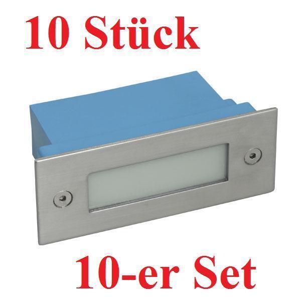 10er Set LED Einbauleuchte TAXI weiß Treppenleuchte 1,5W Treppenspot Wandleuchte | Abrechnungspreis  | Meistverkaufte weltweit  | ein guter Ruf in der Welt