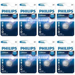 8-X-Bateria-De-Litio-De-Boton-Philips-CR1620-3V-Moneda-Celda-DL1620-caducidad-2021