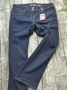 Joe-Browns-Jeans-Trousers-Blue-Ladies-Dark-Size-48-to-54-plus-451-447