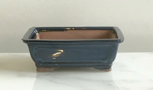 Brand New Top Quality Bonsai Pot Blue 15.5cm Ceramic Glazed Bonsai Pots