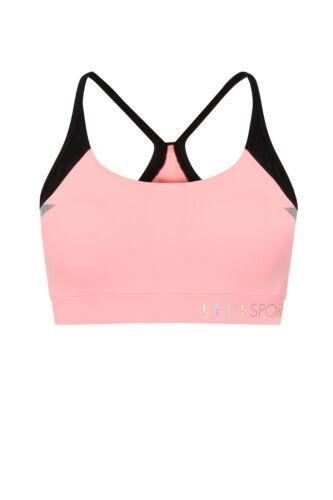 Womens Elle Sports Bra Ladies Running Fortitude Performance Gym Support Crop Top