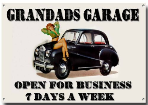 GRANDADS GARAGE METAL SIGN,CLASSIC,RETRO,GARAGE,MECHANIC,TOOLS.WORKSHOP.CAR