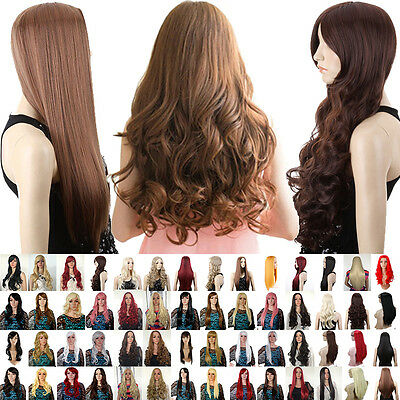 New SEXY fashion ladies long full wigs party real fancy dress costume cosplay GY