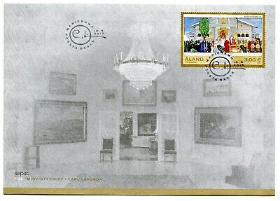 Aland Fdc 2015 Midwinter Blot Painting Larsson Al110 Moderate Price Stamps