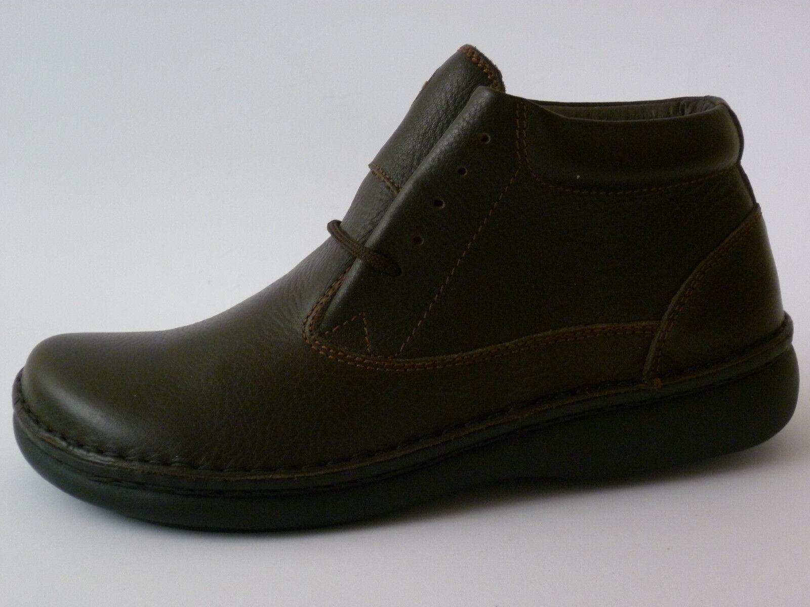 Footprints Perth Birkenstock FB 37 38 39 grasa botas de cuero marrón estrecho nuevo