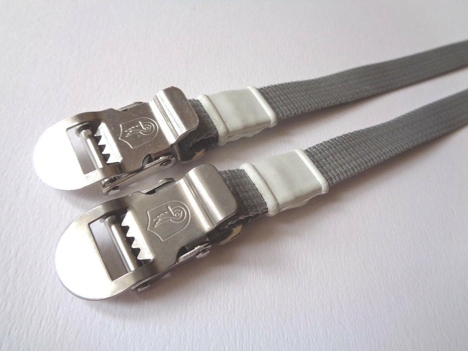NOS Vintage 1980s Campagnolo INOX grey nylon  toe straps (one pair)  the lowest price