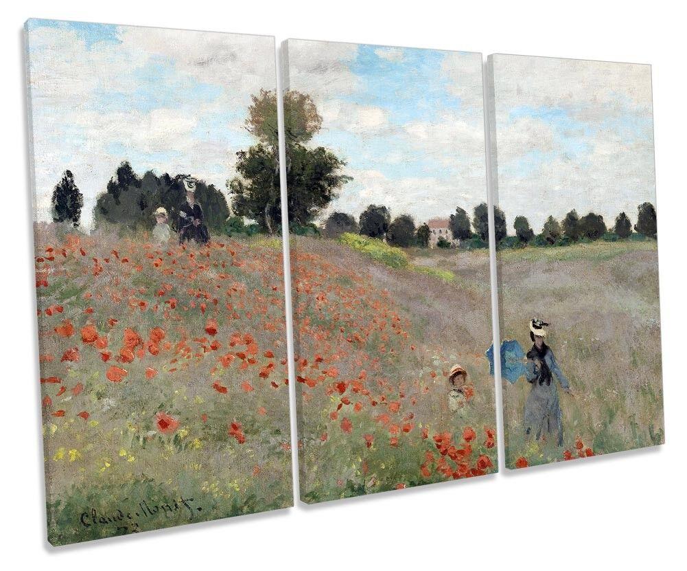 CLAUDE Monet Poppy Poppy Poppy art. a muro campo GRUPPO TRE 45e08c