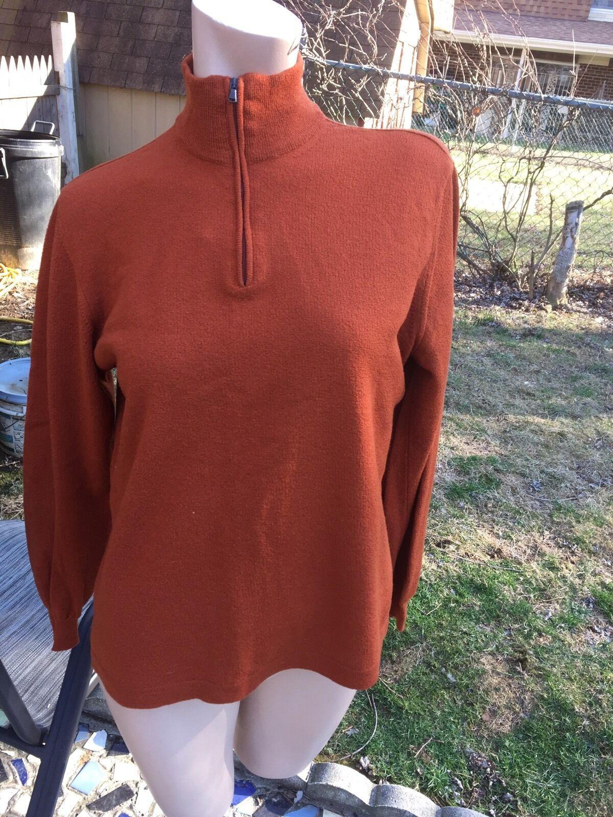 EUC Pal Zileri Gruppo  Forall Men's sz.50 Rust Long Sleeve 1 4 Zip Sweater,